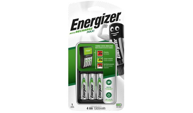 Energizer Maxi Battery Charger with 4 AA Batteries