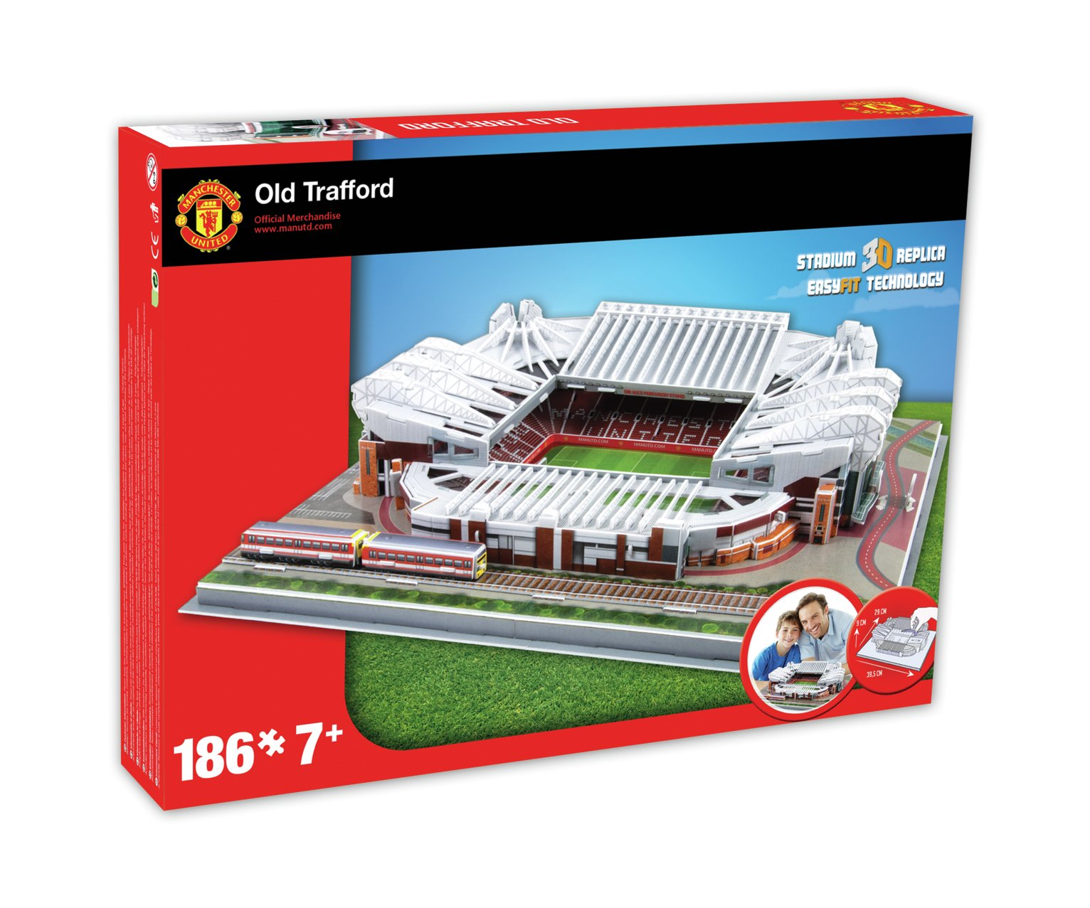 Manchester United 3D Football Stadium Jigsaw Puzzle