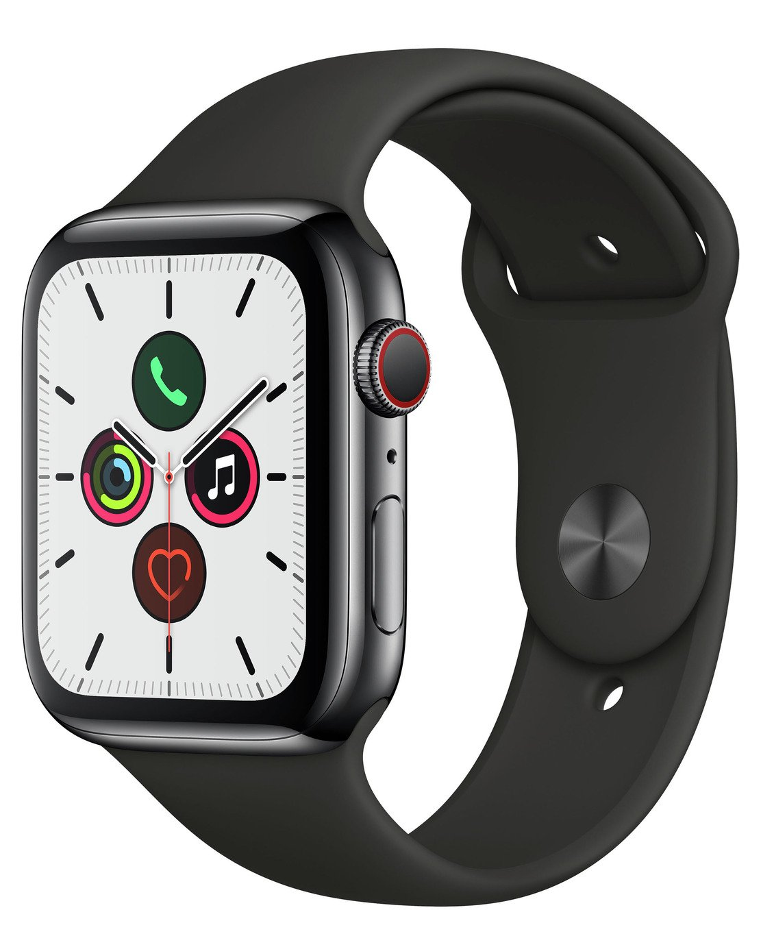 Apple Watch S5 Cellular 44mm Black S Steel / Black Band
