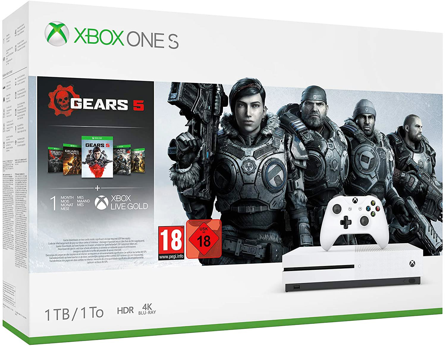 Xbox One S 1TB Console & Gears 5 Bundle