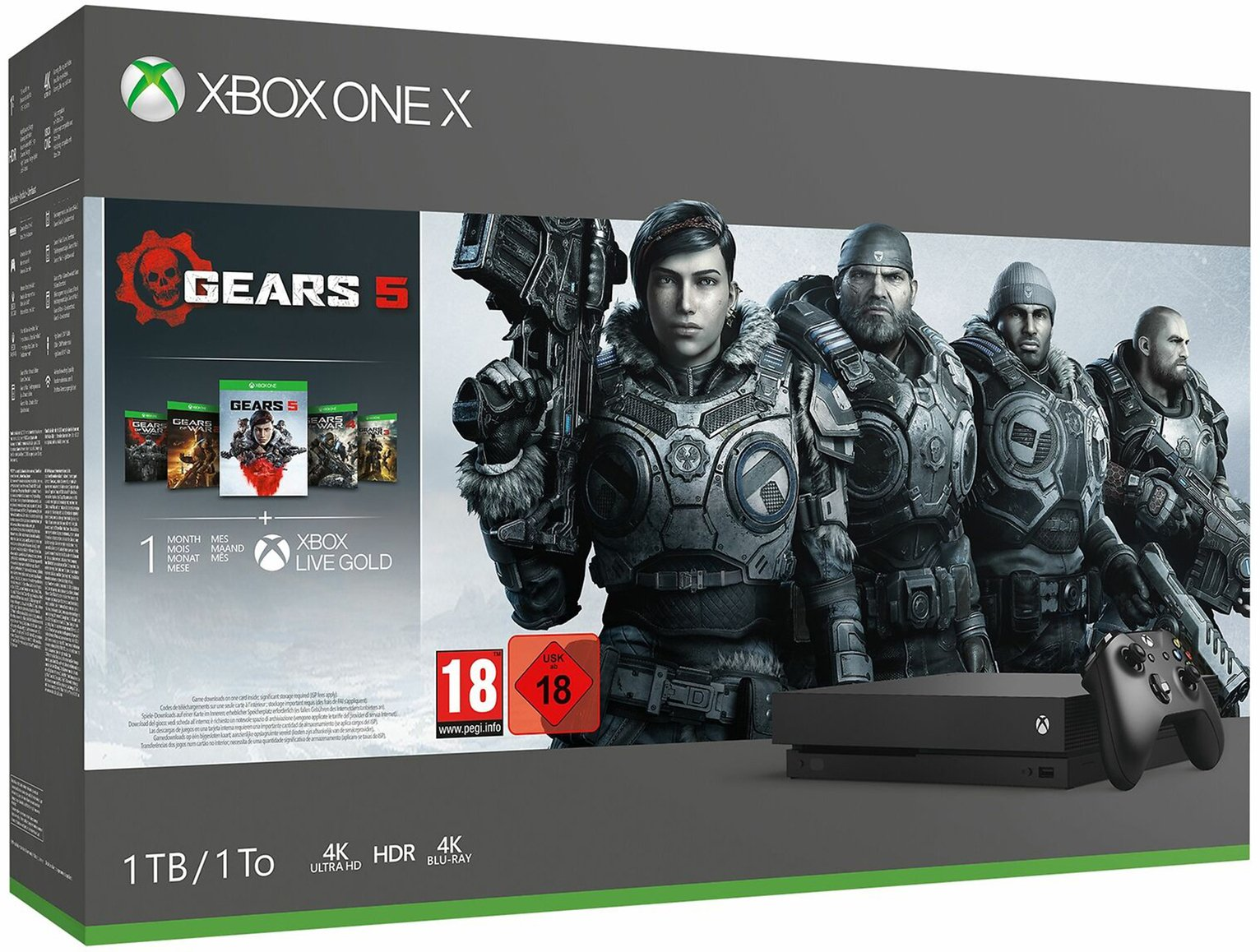 Xbox One X 1TB Console & Gears 5 Bundle