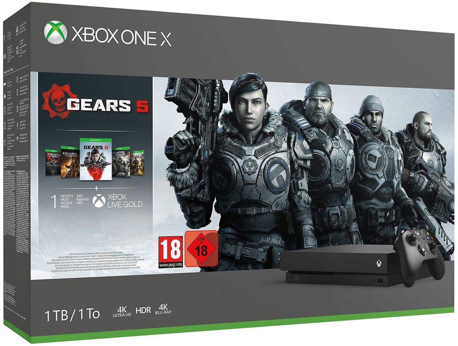 Xbox One X 1TB Console & Gears 5 Bundle