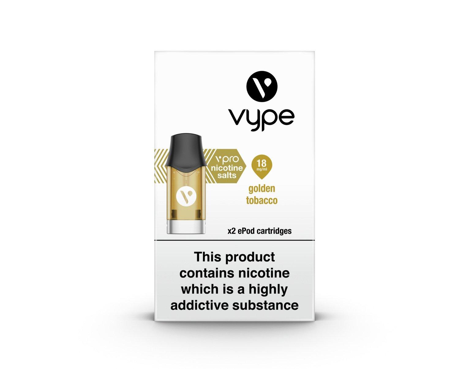 Vype Golden Tobacco Epod Refill