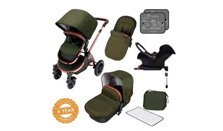 Ickle Bubba Stomp V4 ISOFIX Travel System - Wood