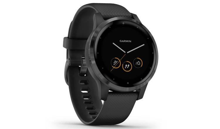 Garmin Vivoactive 4S GPS Smart Watch - Gunmetal /Black Band