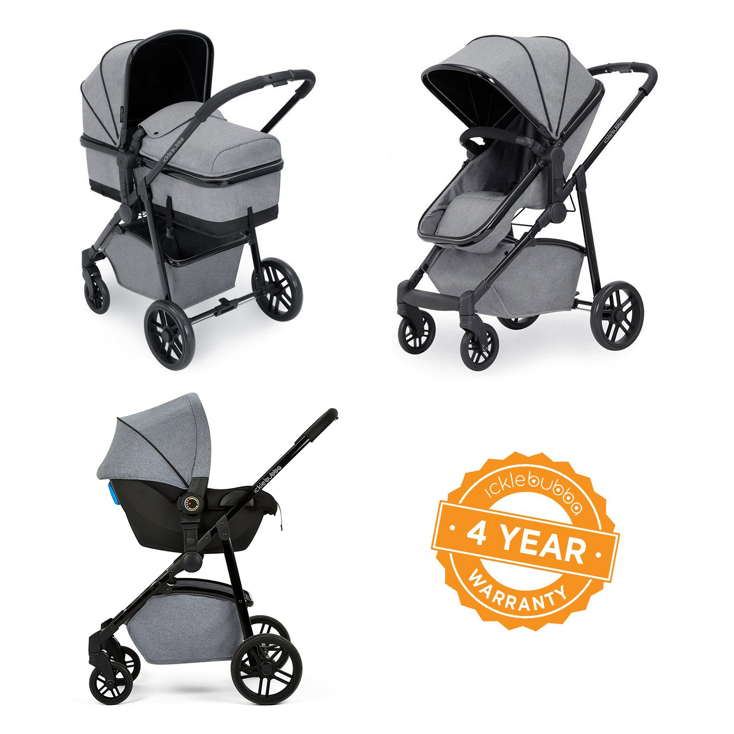 Ickle Bubba Moon 3-in-1 Travel System