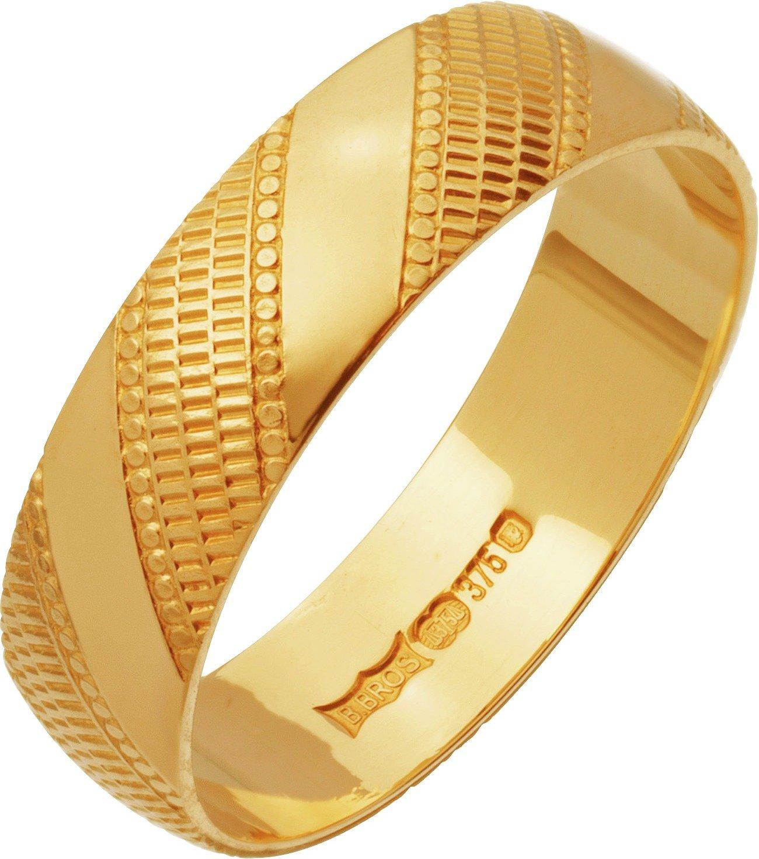9ct-gold-diamond-cut-wedding-ring-5mm