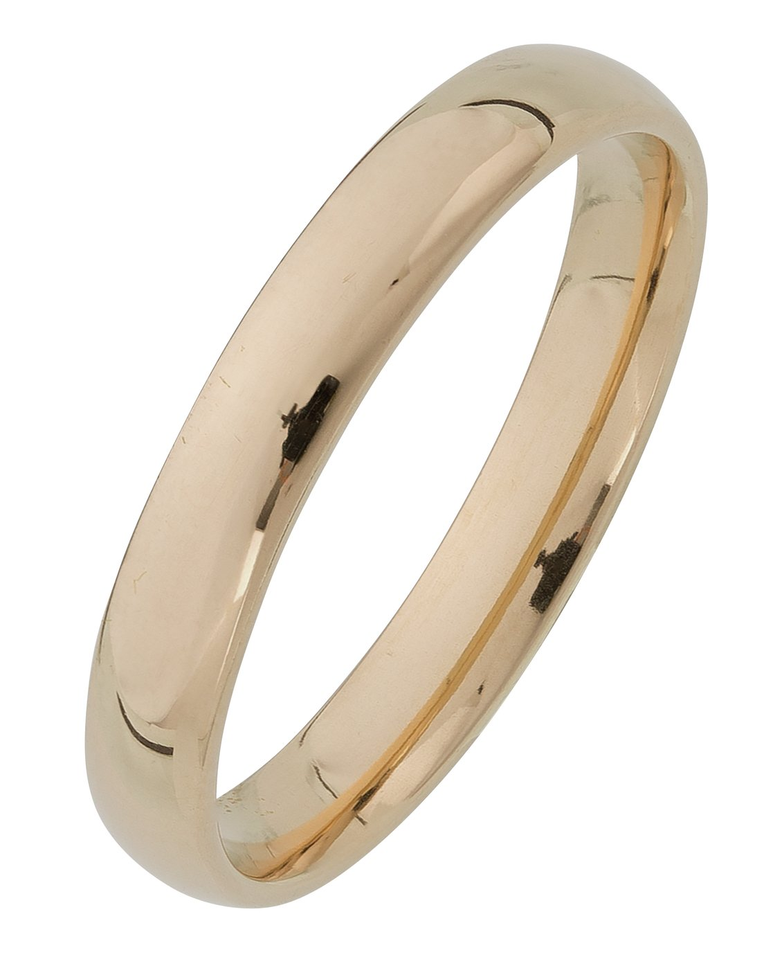 Revere 9ct Yellow Gold Court Shape Wedding Ring - 3mm