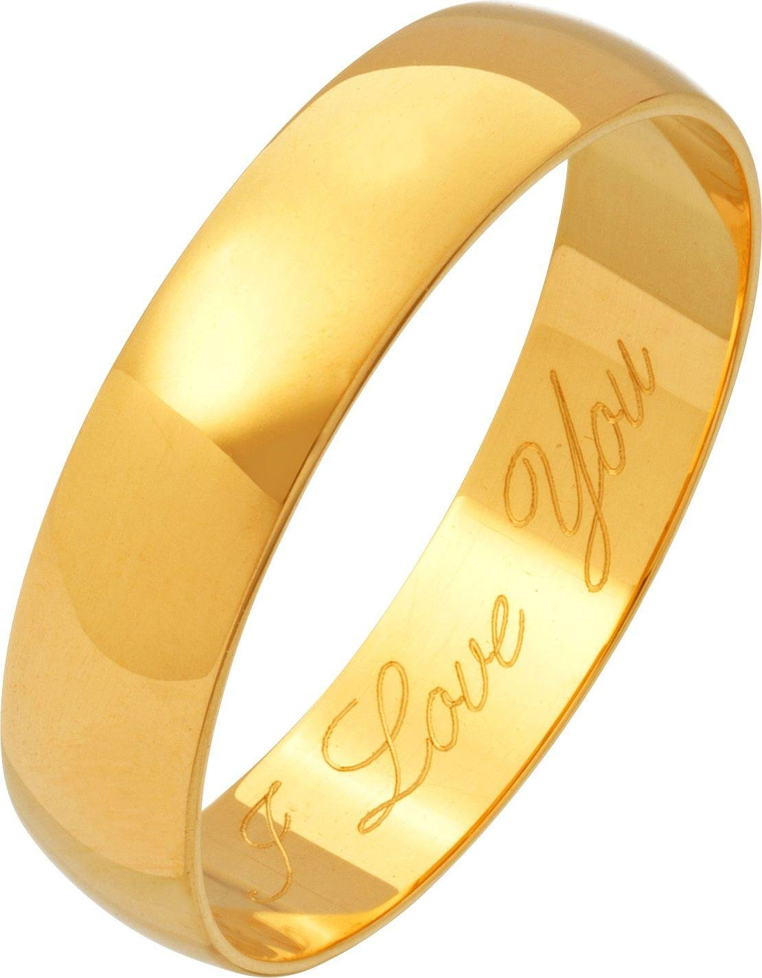 18ct Gold Plain D-Shape Wedding Ring.