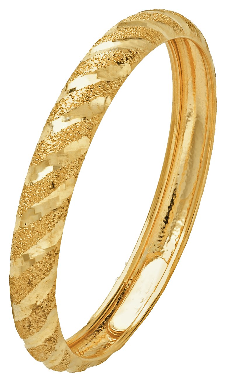 Buy Revere 9ct Gold Diamond Cut And Satin Wedding Ring 3mm