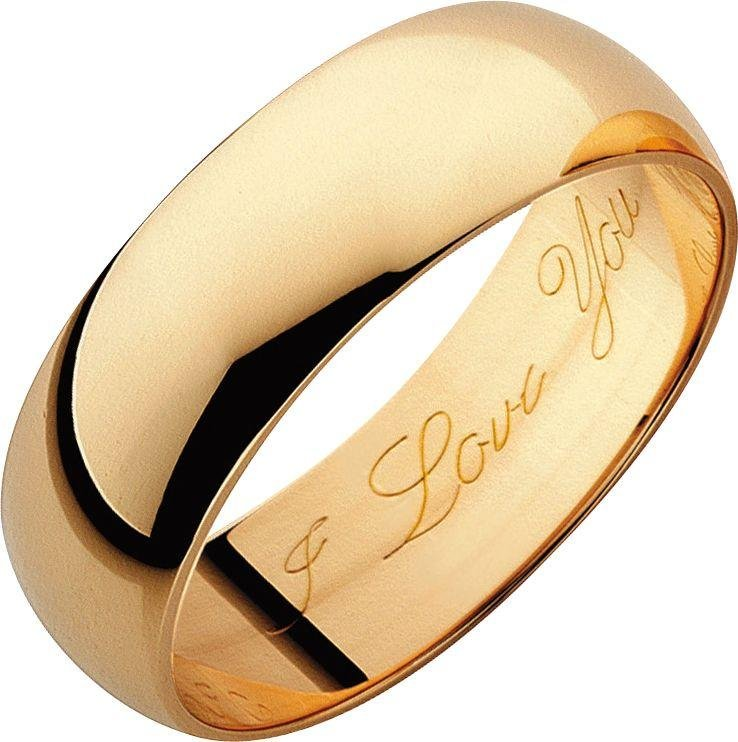 Dome Shaped Bands: Buy 9ct Gold D-Shape Wedding Ring With High Dome At Argos