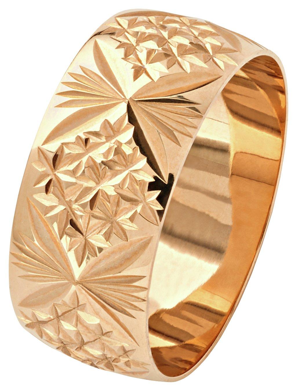 revere-9ct-gold-diamond-cut-wedding-ring-8mm