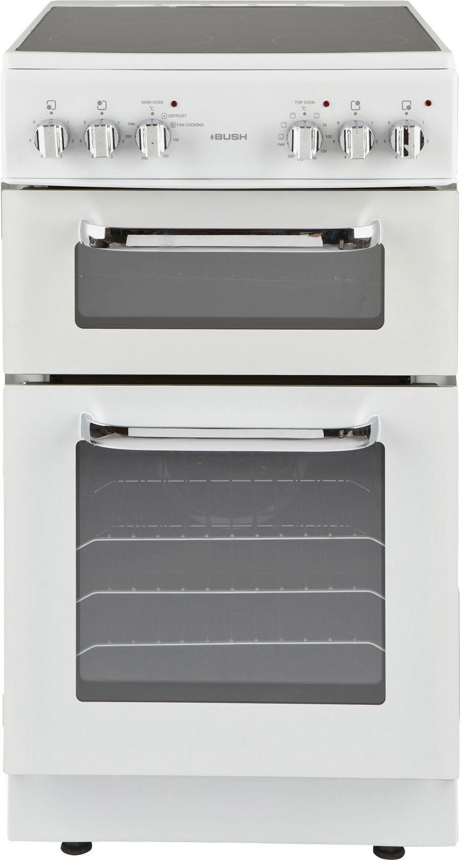 Bush - BFEDC50W Double Electric Cooker - White/Ins/Del/Rec