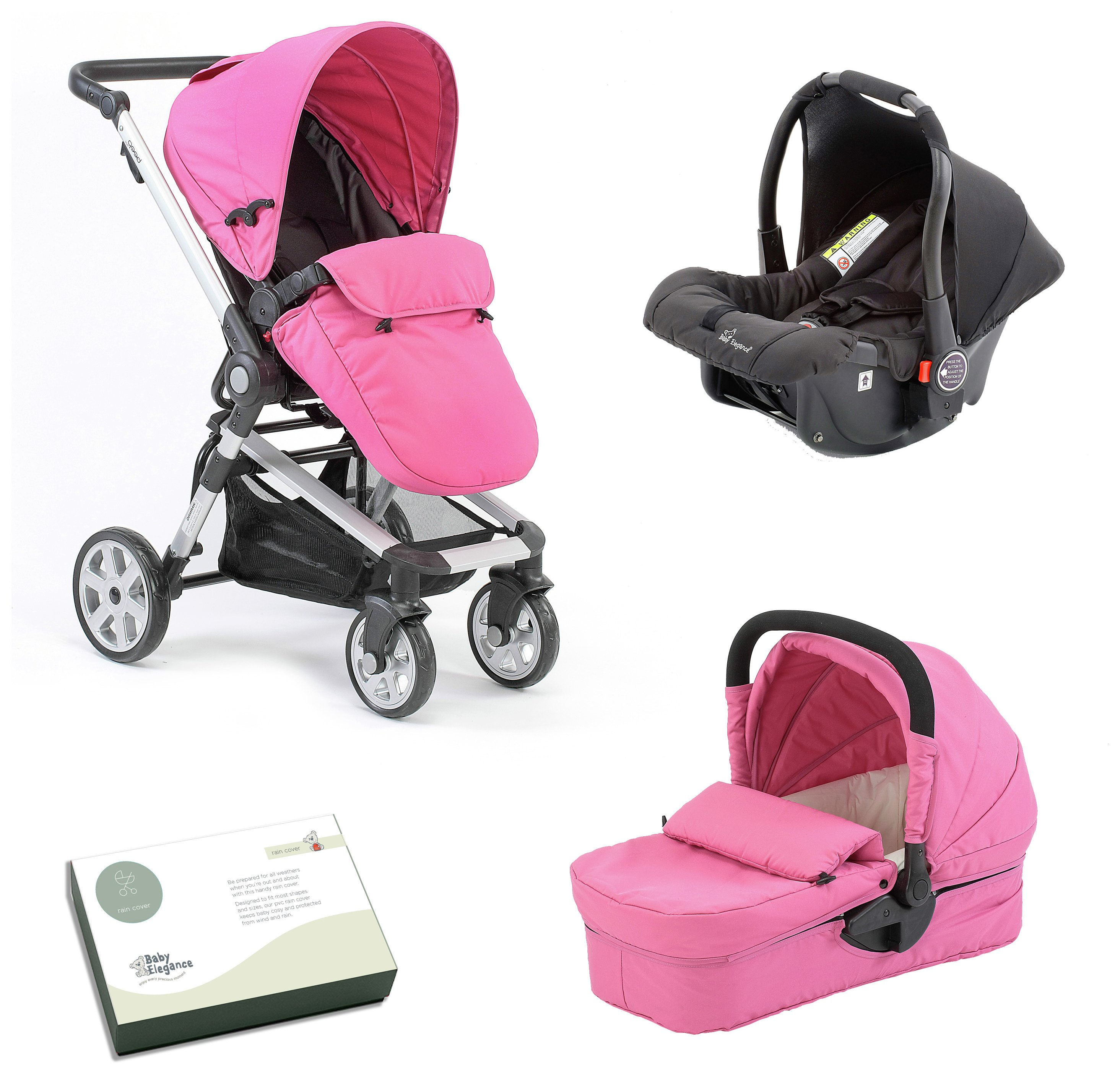 Image of Baby Elegance Beep Twist Travel System - Pink.
