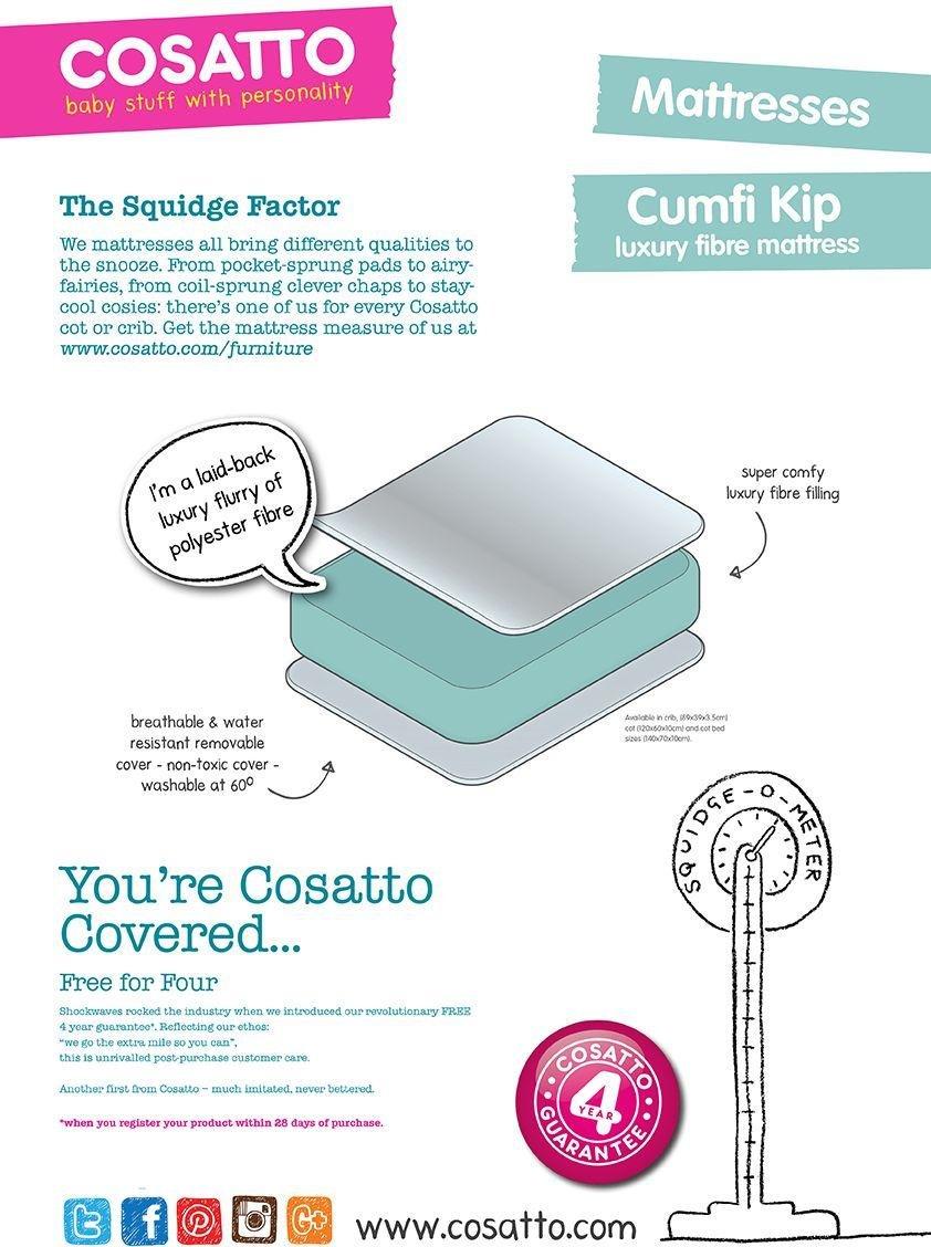 Image of Cosatto Cumfi Kip 140 x 70cm Cot Bed Mattress.