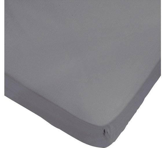 heart of house  egyptian cotton  dove grey fitted  sheetdouble