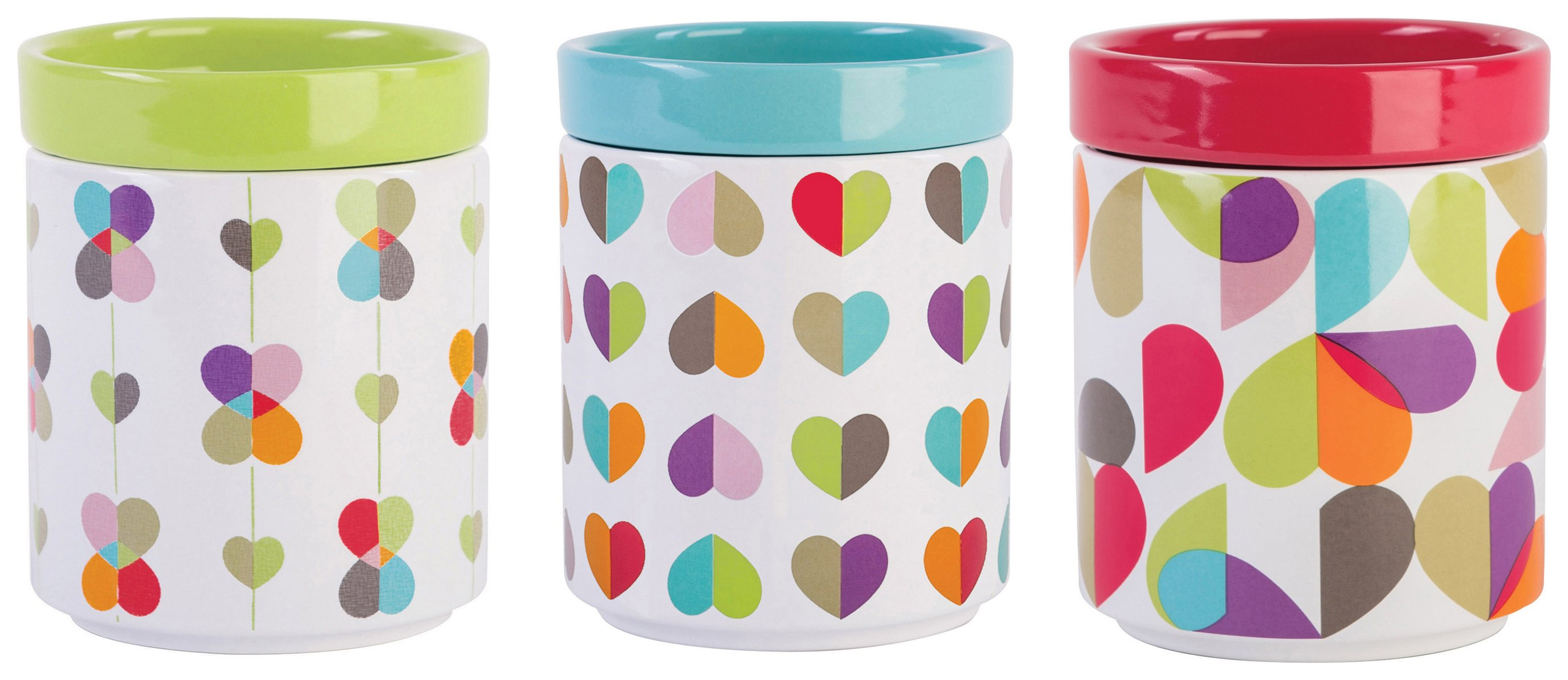 Image of Beau and Elliot Set of 3 Stackable Storage Jars.