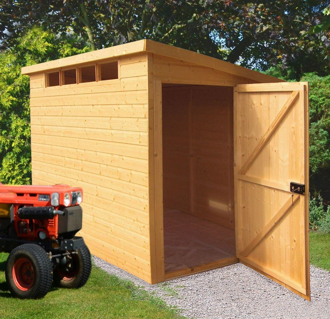 Image of Homewood Shiplap Wooden Security Shed - 10 x 8ft