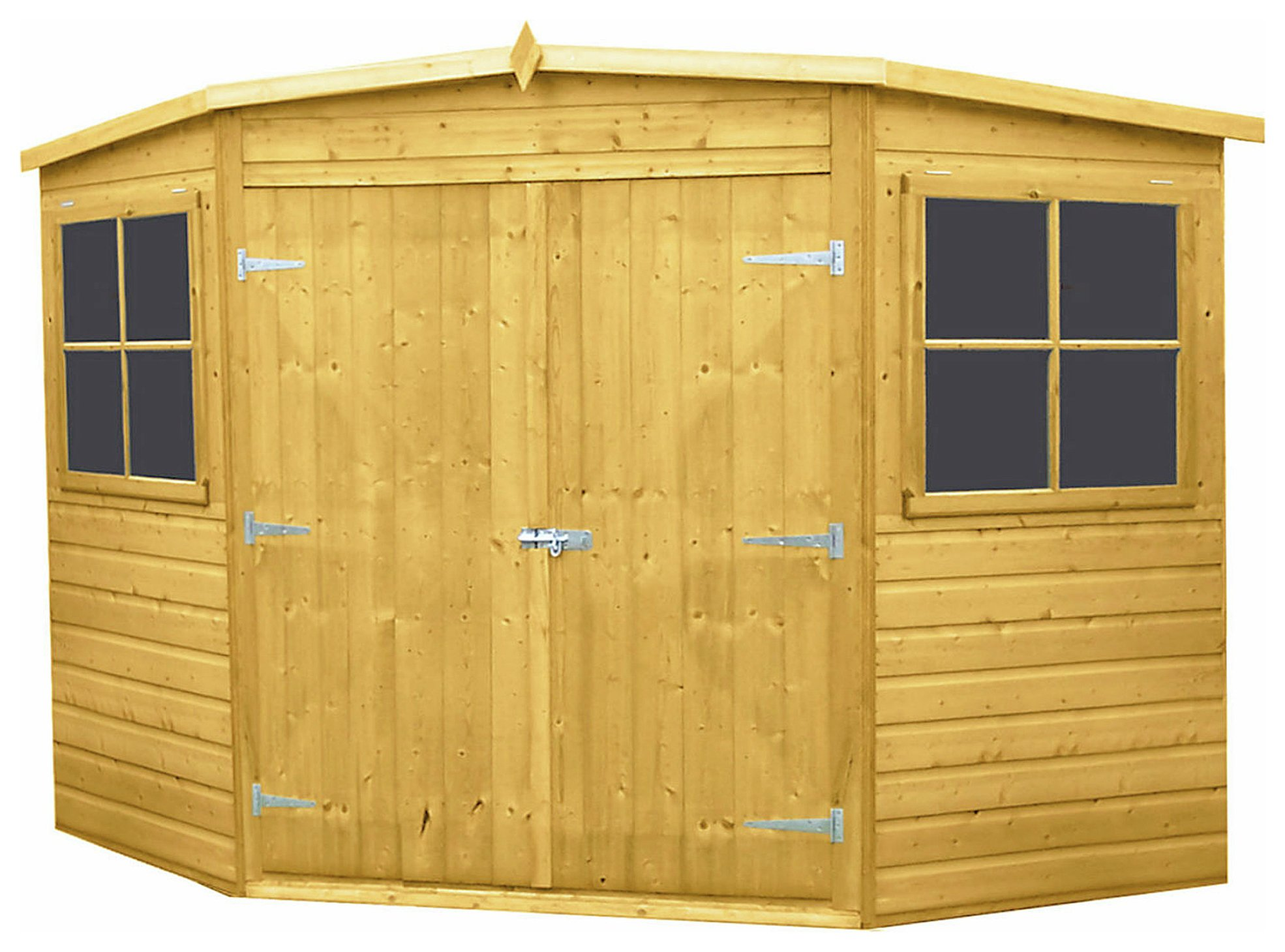 Garden Sheds Argos buy homewood shiplap wooden corner shed - 8 x 8ft at argos.co.uk