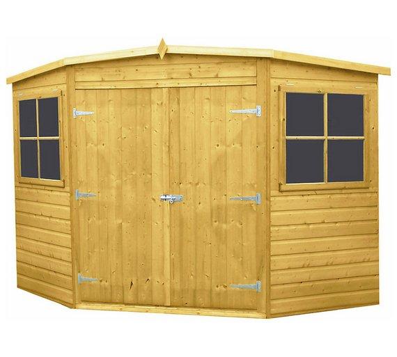 homewood shiplap wooden corner shed 8 x 8ft