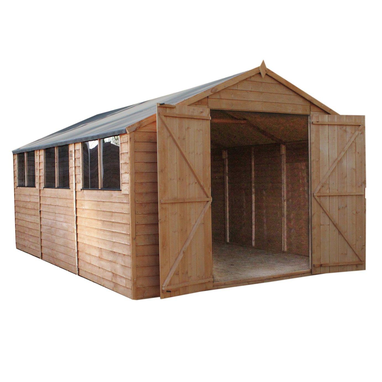 Mercia Wooden 15 x 10ft Overlap Workshop