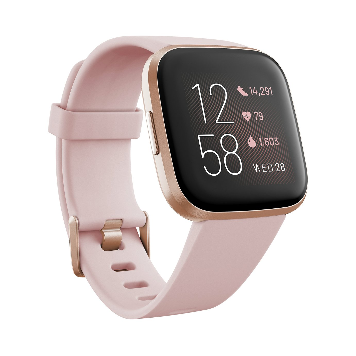 Fitbit Versa 2 Smart Watch - Copper Rose Alu / Petal Band