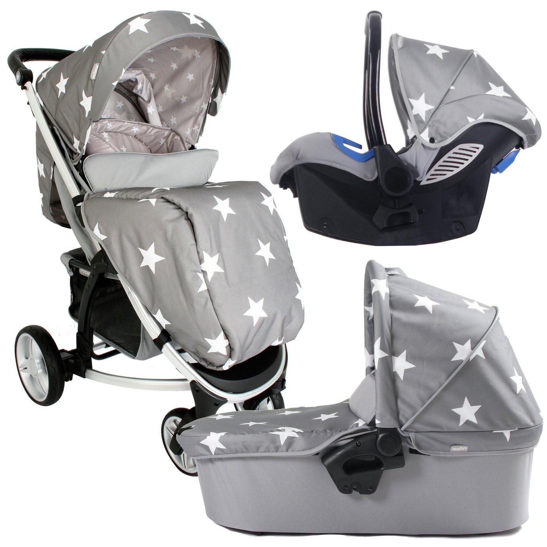 My Babiie Billie Faiers MB200 Travel System - Grey Star