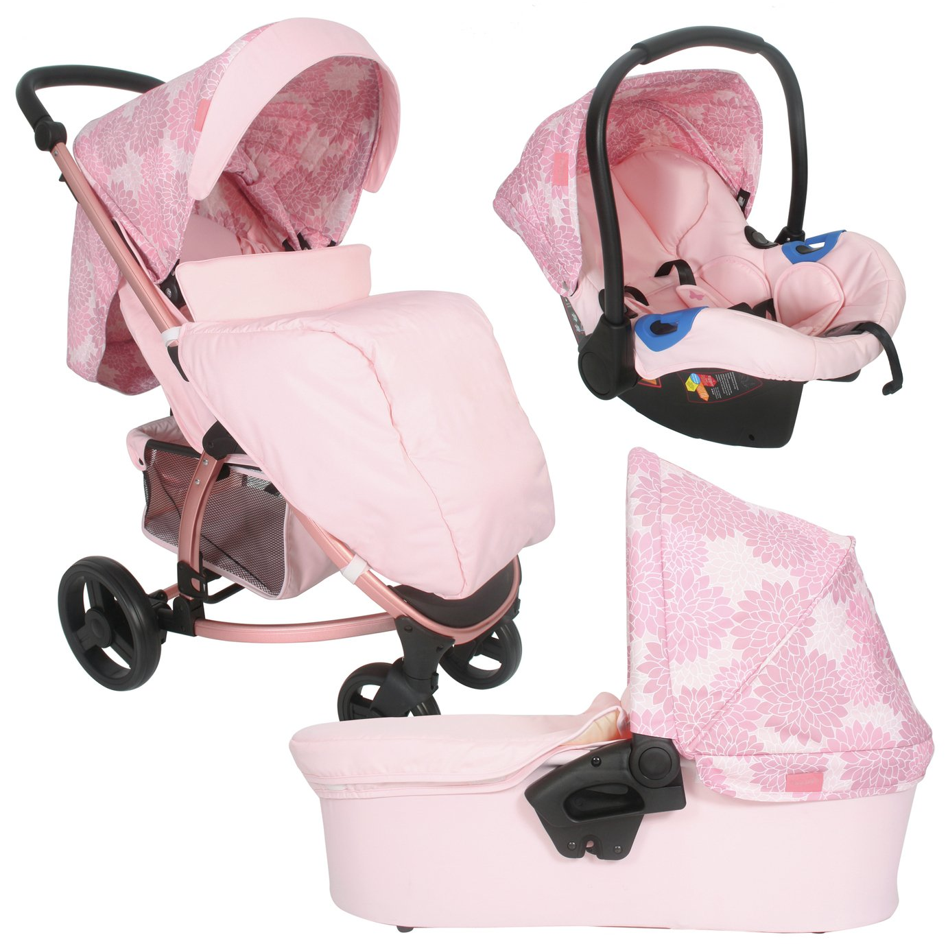 My Babiie Katie Piper MB200 Travel System - Rose Floral