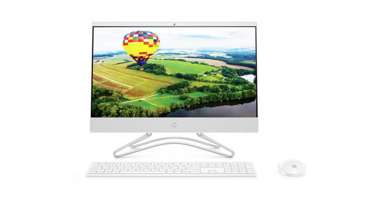 HP 22 Inch Pentium 4GB 1TB All-in-One PC - White