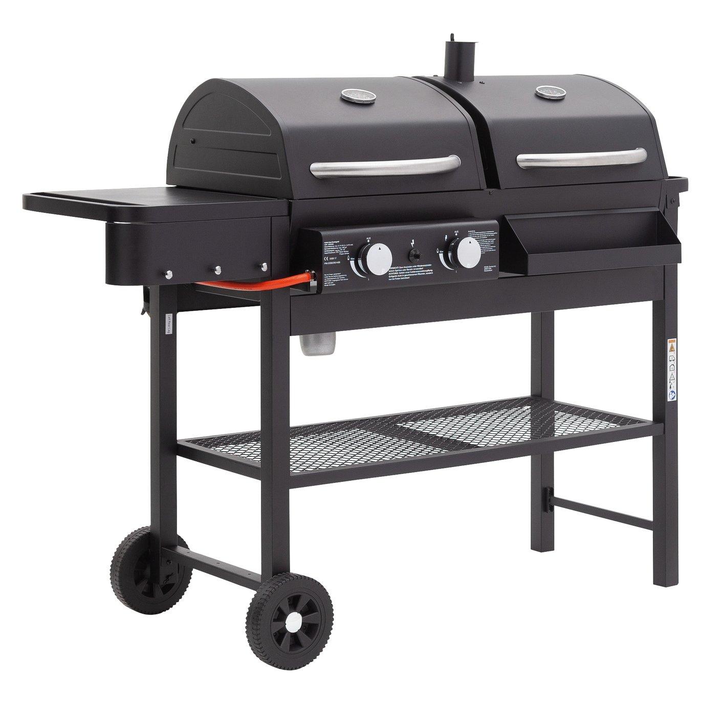 Premium Dual Fuel Charcoal & Gas Combi BBQ