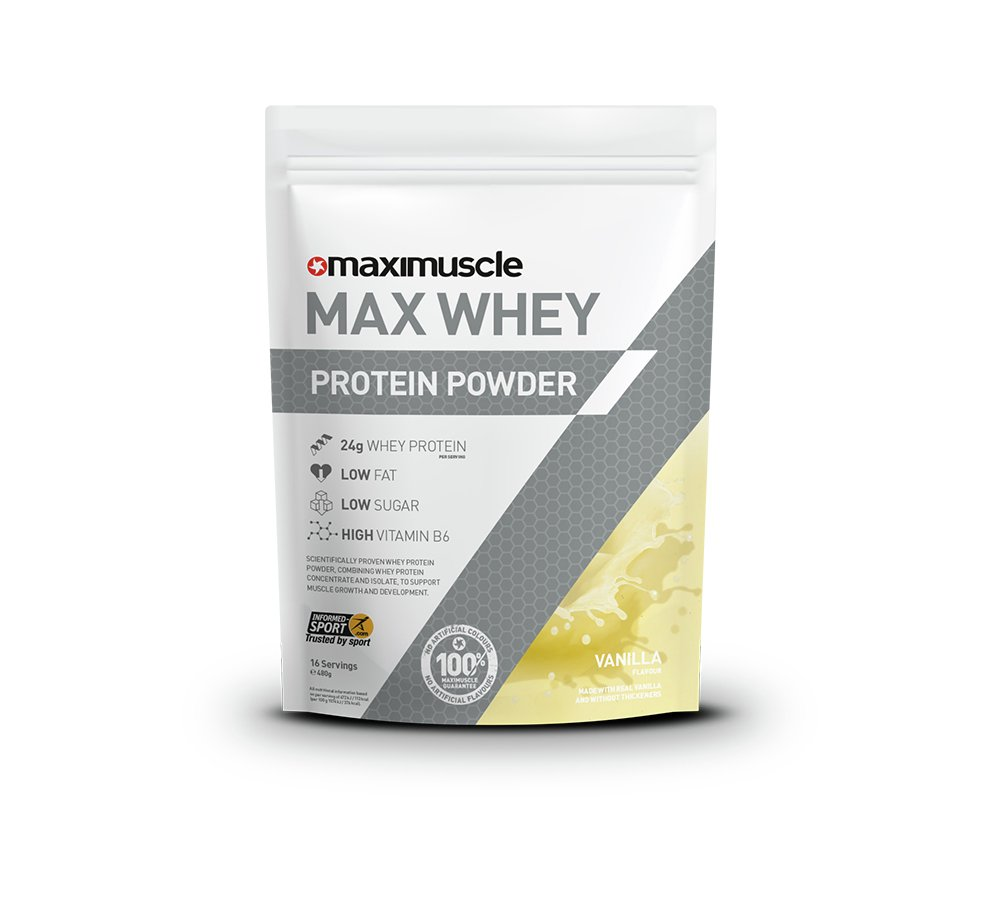 Maximuscle Vanilla Whey Protein Powder - 480g