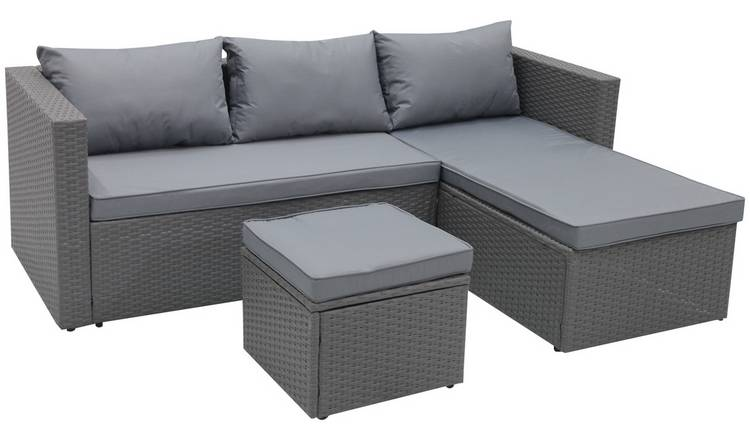 Argos Home Mini Corner Sofa Set with Storage 0