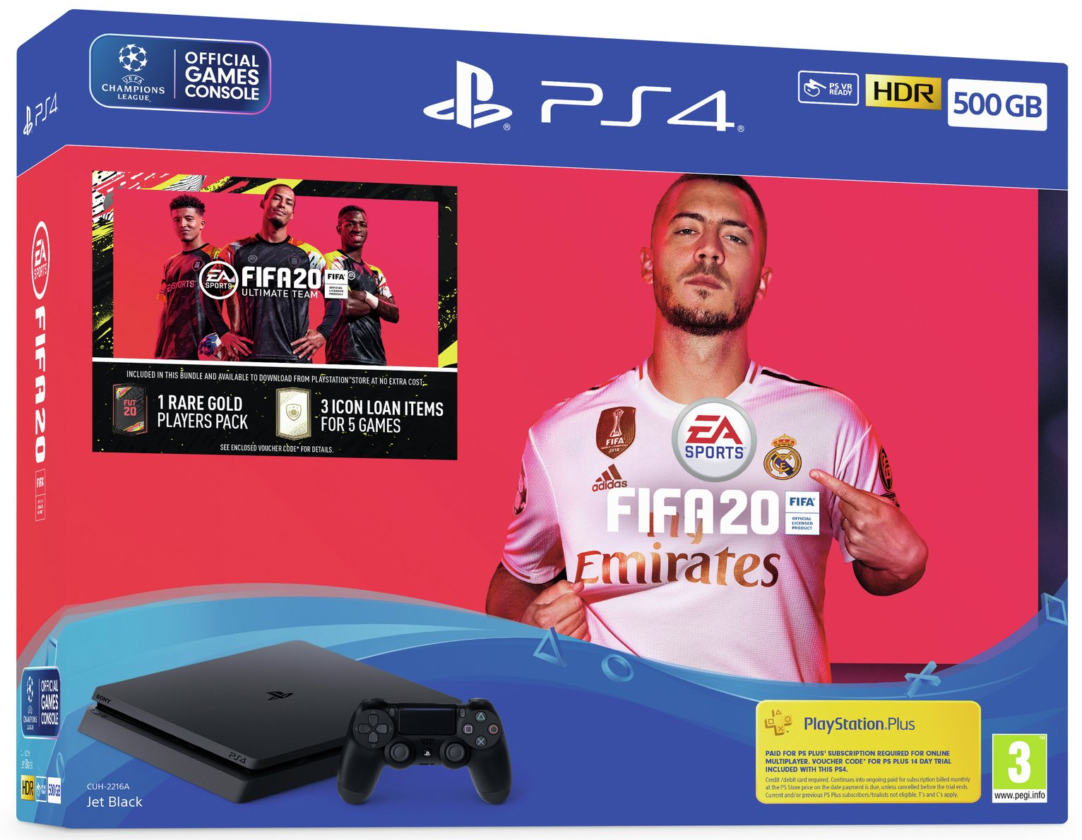 Sony PS4 500GB Console & FIFA 20 Bundle