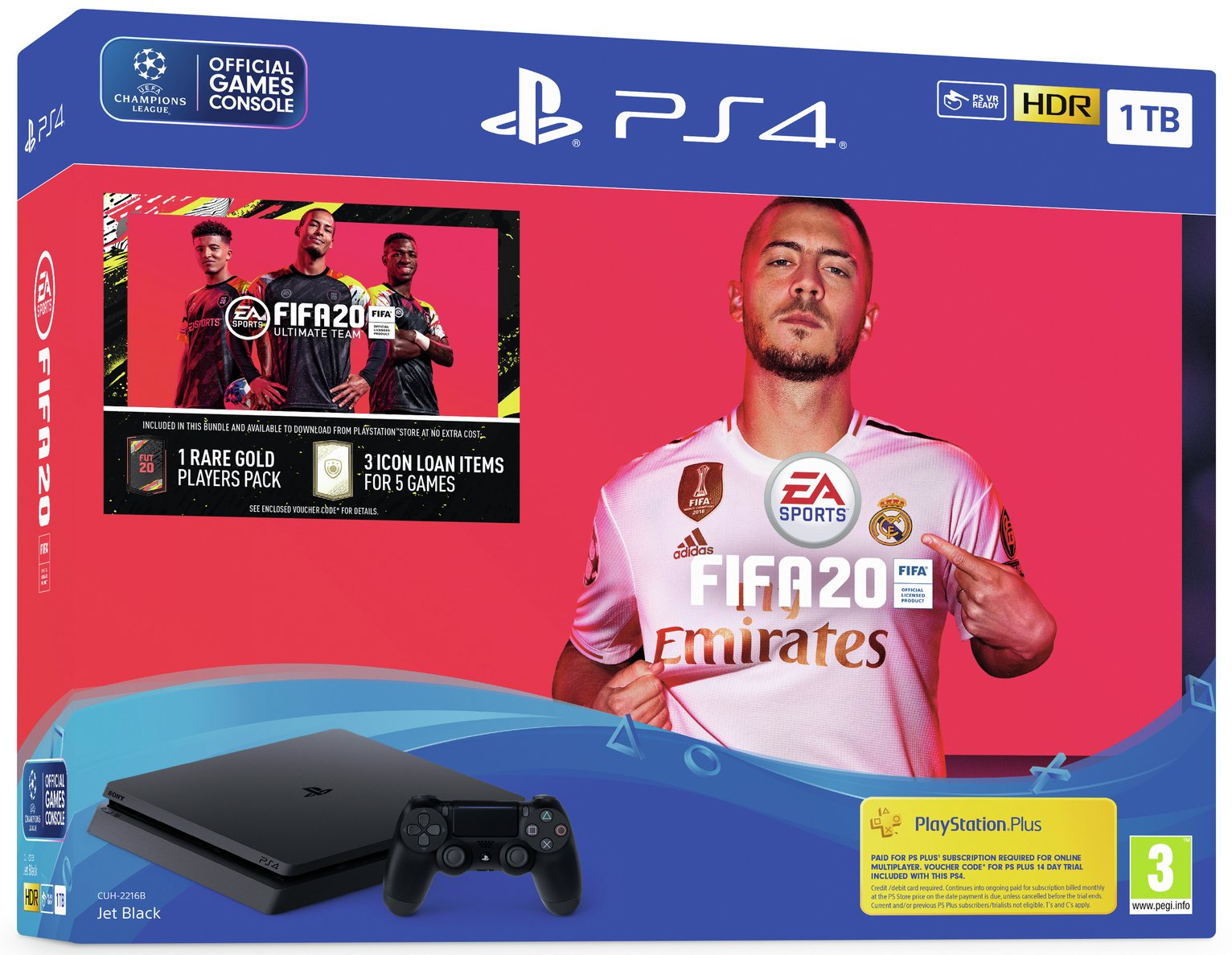 Sony PS4 1TB Console & FIFA 20 Bundle