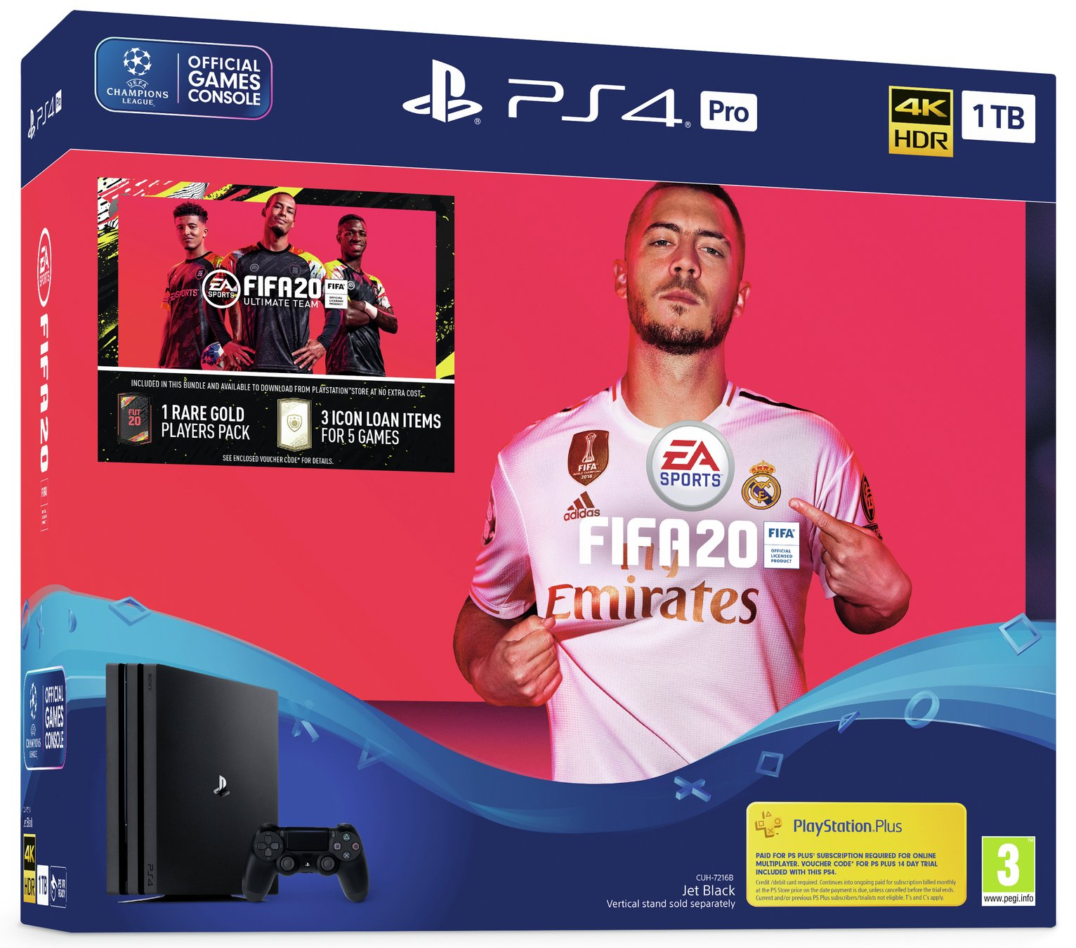 Sony PS4 Pro 1TB Console & FIFA 20 Bundle