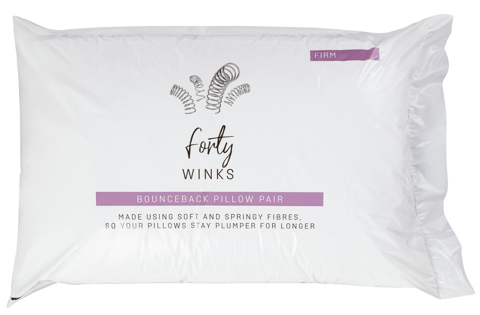Forty Winks Bounceback Firm Pillow - 2 Pack