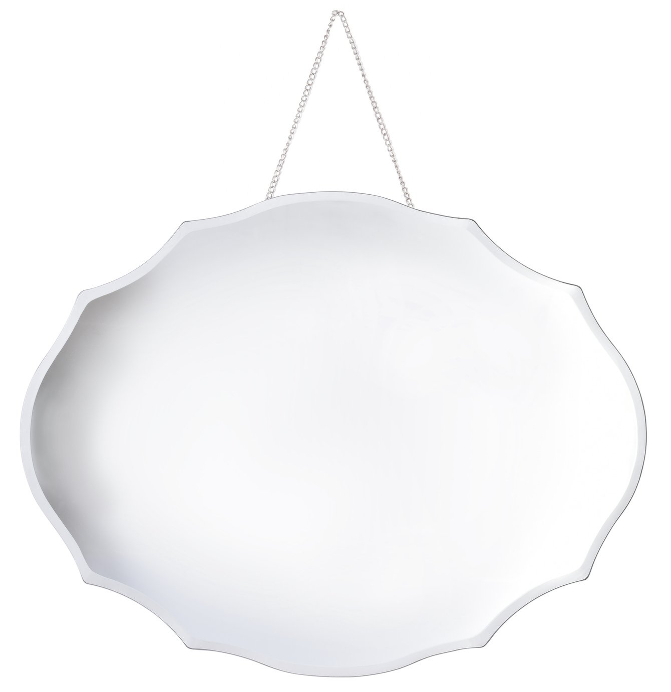 Innova Home Bevelled Oval Mirror and Chain Hanger