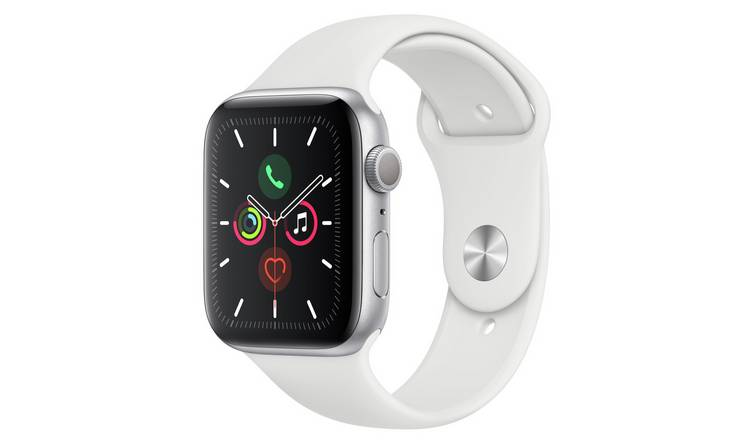 Apple Watch S5 GPS 44mm Silver Alu/White Band
