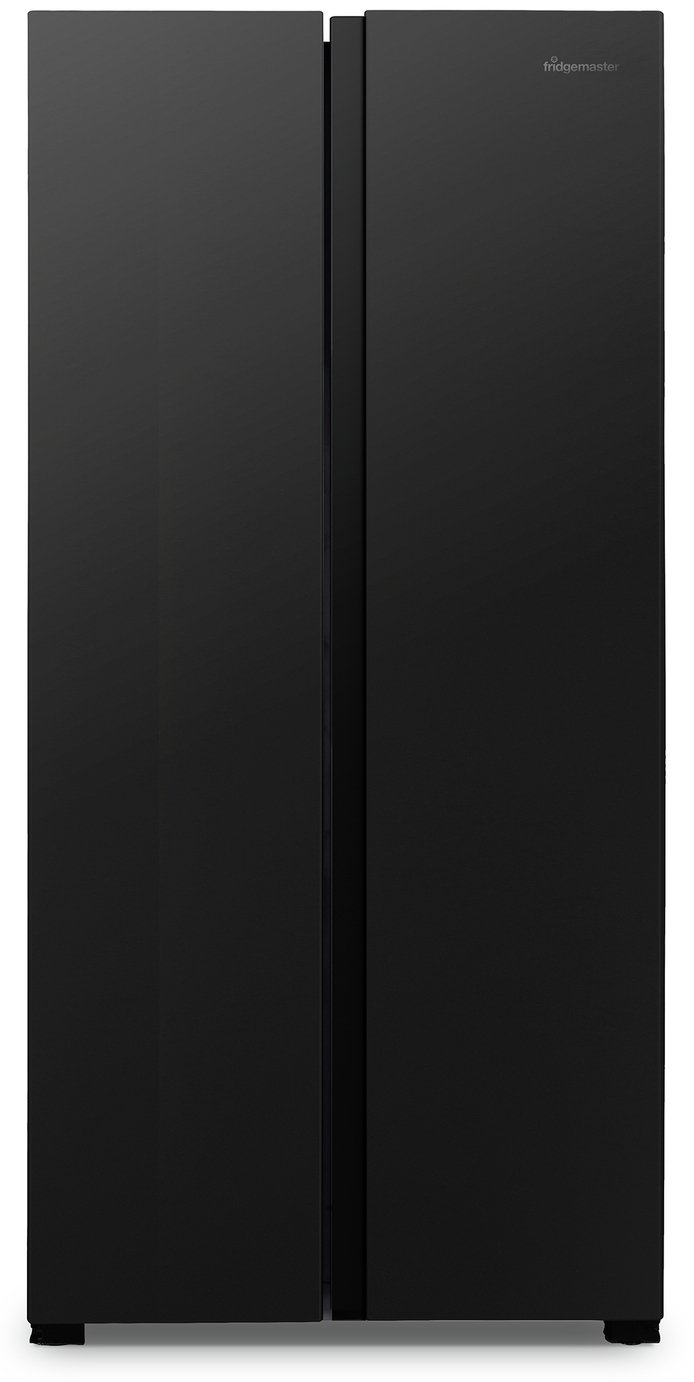 Fridgemaster MS83430FFB American Fridge Freezer - Black