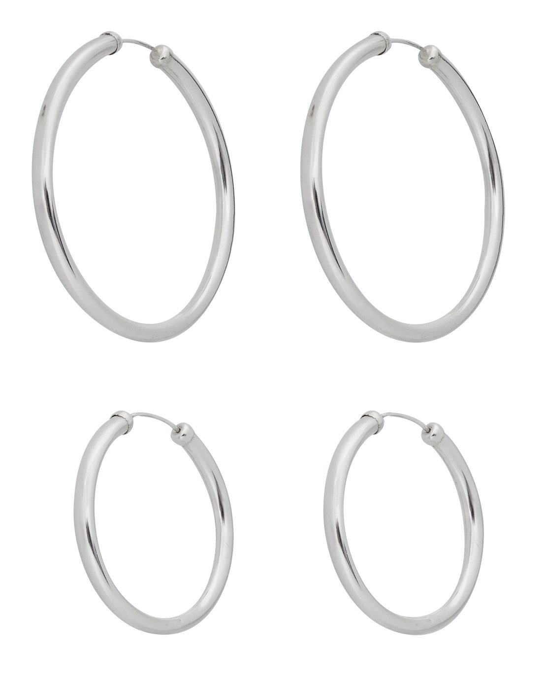 Revere Sterling Silver Set of 2 Hoop Earrings