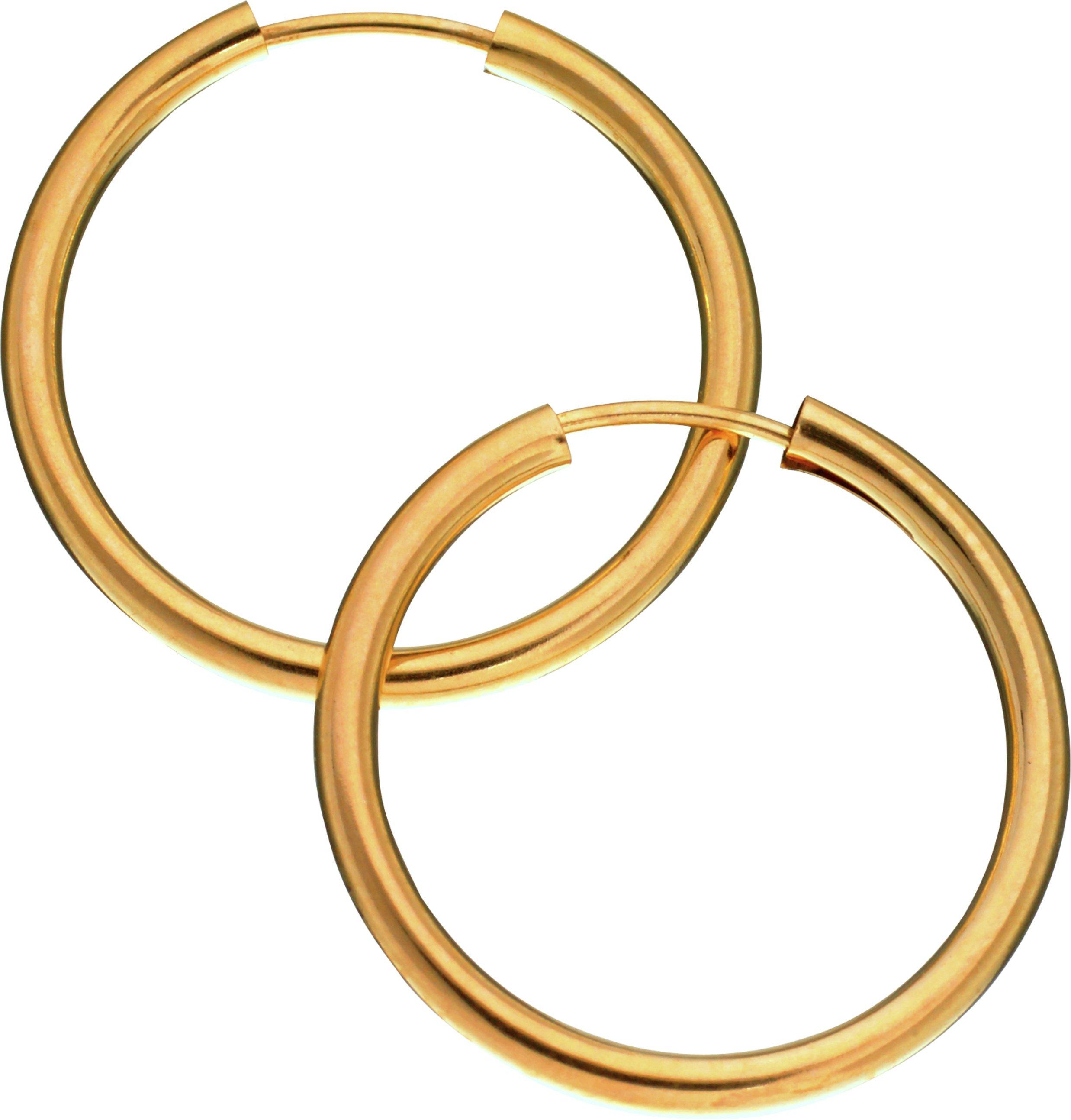 Revere 9ct Yellow Gold Hoop Earrings