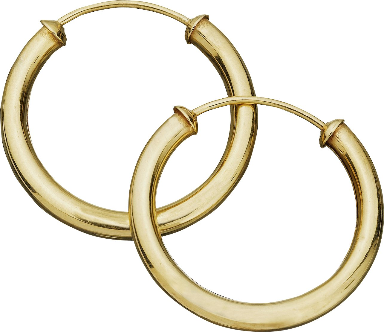 Buy Revere 9ct Gold Capped Hoop Earrings at Argos Your