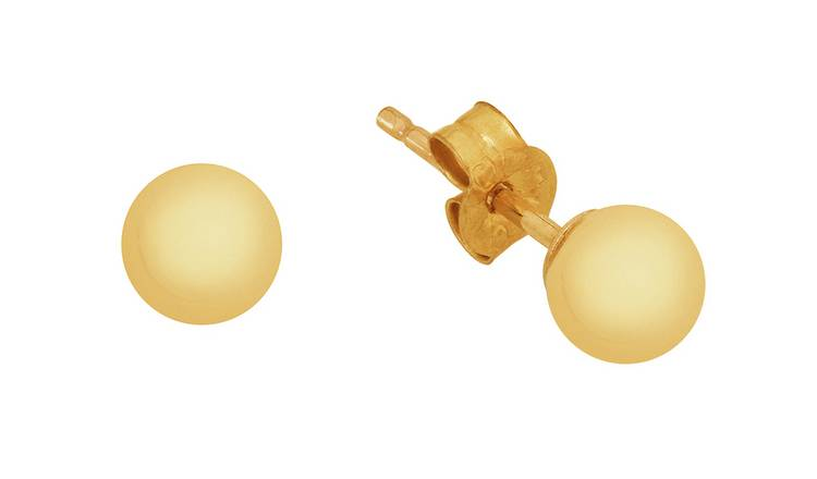 Revere 9ct Yellow Gold Ball 3mm Stud Earrings