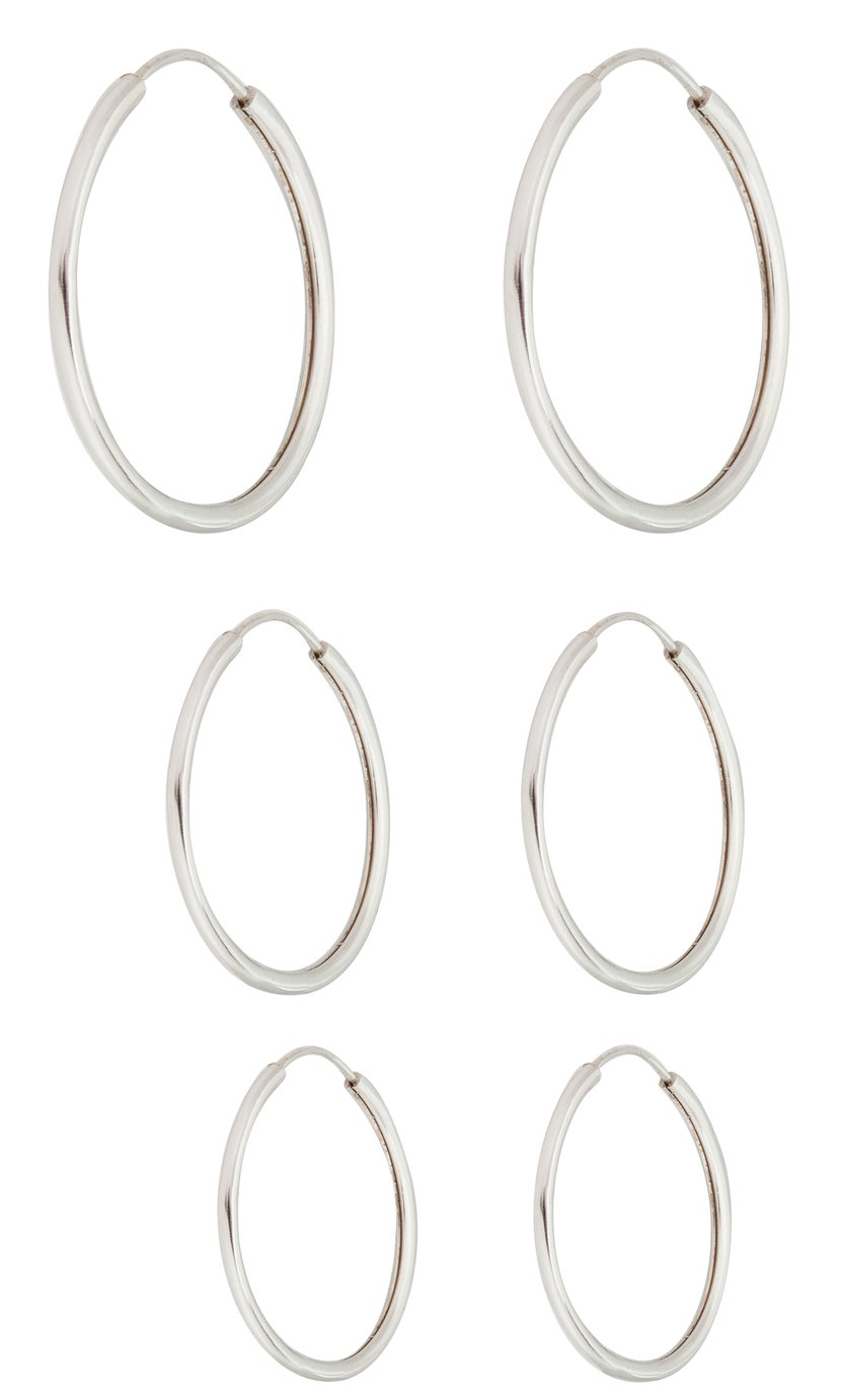 Revere Sterling Silver Hoop Earrings - Set of 3