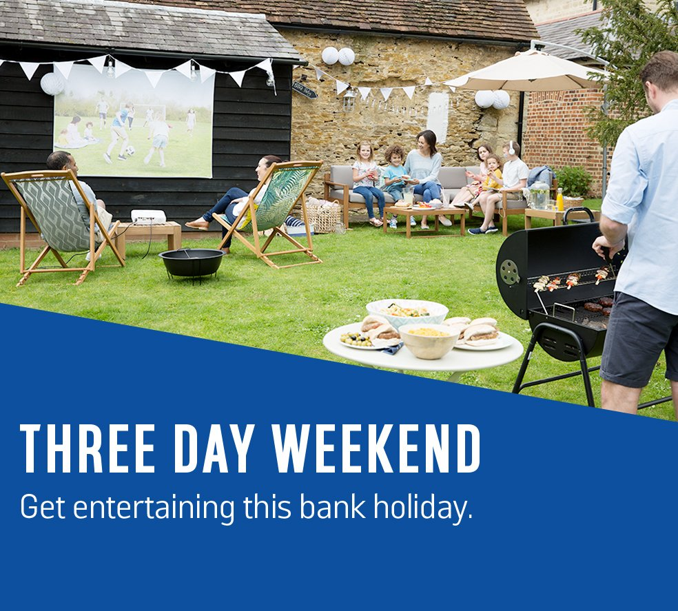 Three day weekend. Get entertaining this bank holiday.