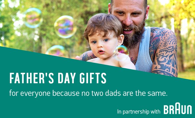 Father's day gifts for everyone because no two dads are the same.