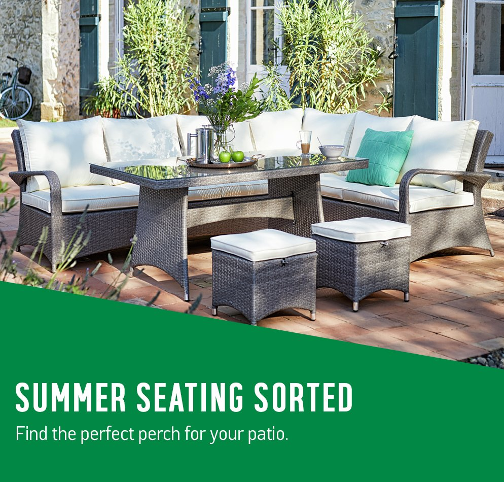 Summer seating sorted. Find the perfect perch for your patio.