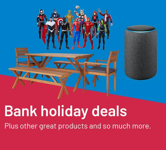 Bank Holiday Deals. Plus other great products and so much more.