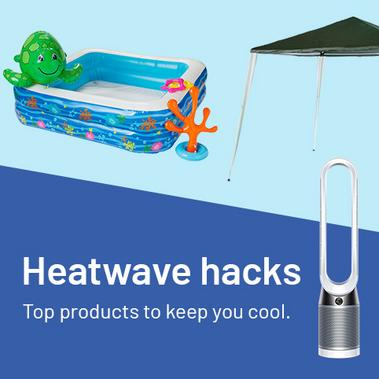 Heatwave hacks. Top products to keep you cool.