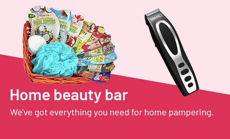 Home beauty bar. We've got everything you need for home pampering.